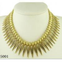 China Gold leaf fashionable Antique Bronze Necklace with newest design wholesale