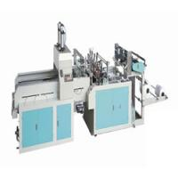 China Fully automatic double line T-shirt type Plastic bag making machine wholesale