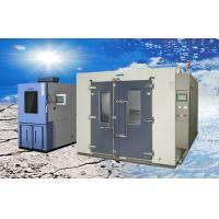 China Larger Volume Electroplated SUS304 Walk-in Climatic Test Chamber / Rooms wholesale