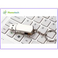China Rotated Metal USB Flash Drives / personalized jump drives Swivel Style wholesale