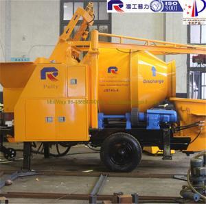China Pully JBT40-P1 diesel concrete mixer pump with hydraulic hopper, portable concrete pump wholesale