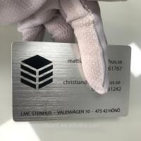 China Colorful  Anodised Aluminium Business Cards  Brushed Finished Etched  Carving wholesale