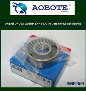 China High Speed Deep Groove Ball Bearing Single Row SKF 6409 wholesale