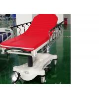 China Hydraulic Luxurious Emergency Patient Trolley 4 Pcs 6 Inch Central Locking Castors wholesale