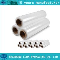 China pre stretch 280% Transparent LLDPE Stretch Film Plastic Packing Film wholesale