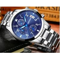 China Wholesale Fashion Kinyued Men Chronograph Quartz Wrist Watches Waterproof 30m Luminous Casual Watches JYD-1007 wholesale