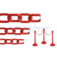 China ISO Approved Decorative Lightweight Red Plastic Safety Chain For Street wholesale