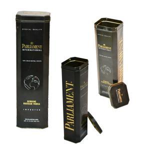 China FDA Promotional Tin Cans , Octagon Champagne Dessert Wine Tin Box wholesale