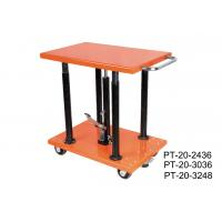 China Stationary Manual Post Lift Table Movable With Long Lasting Hydraulic Pump wholesale