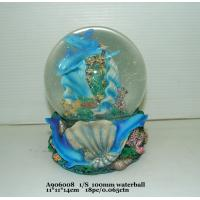 Wholesale Blue Polyresin Water Souvenir Snow Globes With Dolphin Bases 11 X 11 X 14 Cm from china suppliers