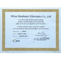 WCON HARDWARE ELECTRONICS CO., LTD. Certifications