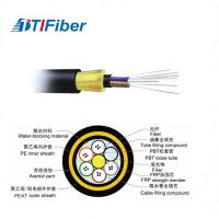 China Double Sheath Aerial Optical 100m Fiber Optic Ethernet Cable ADSS 8 Core All Dielectric wholesale