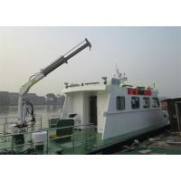 China Hydraulic Marine Davit Crane 0.98T 5M Telescopic Boom Overload Protection wholesale