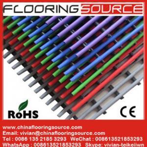 China PVC Tubular Mat Plastic Tubes Design for Wet Area Swimming Pool Bathroom Changing room wholesale