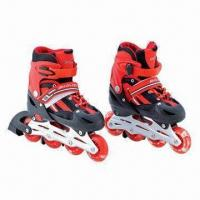 China Flashing Roller Skates, Made of Aluminum Chassis, Adjustable Inline Skate on sale