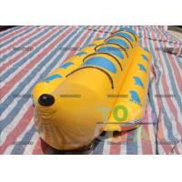 China 5 Players Yellow Banana Boat With 0.9MM PVC EN15649 1 Year Warranty wholesale