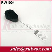 China 50,000 Times Retail Security Tether With Gluey Dog Tag / Stainless Steel Cable wholesale