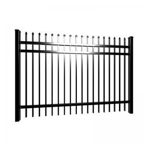 China Cheap  Villa  2100x2400mm black tubular fencing galvanized for hot sale wholesale