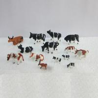 China 1:87 color cattle,model animals,HO painted cattle,model cows,HO cow,HO animal,1:87 ABS cow wholesale