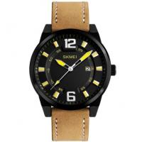 China Skmei Comfortable Joker Fashion Vogue Men Leather Band Quartz Wrist Watches 1221 wholesale