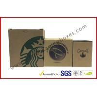 China Brown Corrugated Cardboard Boxes / Corrugated Moving Boxes For Cup Package , ROSH Listed wholesale