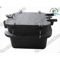 China Carbon Steel Small Outfitting Equipment Deck Hatch Cover Watertight Spray Paint on sale