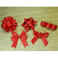 China 3Inch Personalized Tie satin ribbon bow , Floral , Elastic , twist tie gift bow on sale
