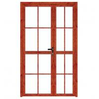 China Push Pull Interior Aluminium Casement Door With Double Tempered Glass wholesale