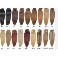 China Unprocessed Colored Human Hair Extensions , Colored Hair Weave wholesale