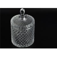 Home Decoration Elegant Clear High White Glass Spot Glass Jars With Lid