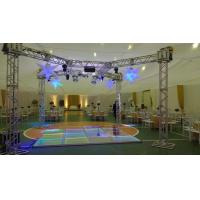 China 3 Level Adjustable Height Arclic Glass Portable Movable Stage Platform 400KG Loading Capacity 4 X 4ft wholesale