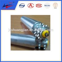Quality Single or double steel sprocket roller, grooves belt pipe conveyor rollers for sale