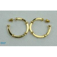 China Newest gold plated zirconia stud earring in 2012 wholesale