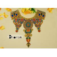 China African Colorful Sewing Royal Embroidered Collar Neckline For Salwar Suits wholesale