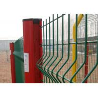 White 14 15 16 Gauge Wire Mesh Fence , Green Plastic Coated Wire Fencing