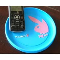 China Bule Soft Plastic Coin Tray Custom Round Cash Tray With Custom Logo wholesale