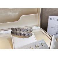 China Glamorous 18K Gold Diamond Jewelry , Full Pave Diamond  Snake Bracelet wholesale