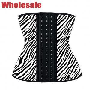 China Customized 3 Hooks Latex Zebra Slimfit Waist Trainer For Lower Belly wholesale