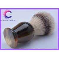 China Faux horn handle barber shop shaving brush / synthetic shaving brushes wholesale