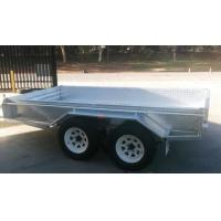China Rolled C / Plate floor 8x5 Hot Dipped Galvanized Tandem Trailer 3200KG wholesale