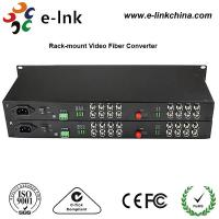 "China 19"" 1U Rackmount CCTV Fiber Optic Media Converter 2Channel Forward Audio RJ45 Connector wholesale"