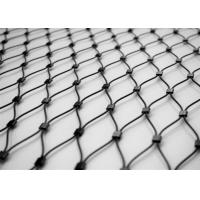 China Architectural Metal Wire Rope Mesh , Crimped Stainless Steel Cable Netting on sale