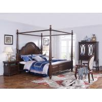 China Palatial Villa House Bedroom Furniture set Classic Wooden King size Bed with Grand Night table with Decoration display wholesale
