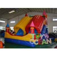 China 0.55 mm PVC Toddler Bounce House , Kids Inflatable Bounce House With Slide Inflatable Slide wholesale