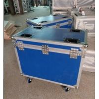 China Blue 9mm Plywood Rack Flight Case With Wheels For Light wholesale
