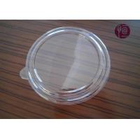 China 44oz 185mm PET 11.5g Disposable Plastic Lids , Flat Salad Bowl Lid With A Ear wholesale