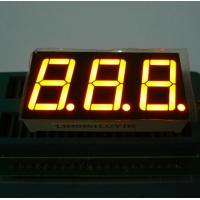 China Triple Digit 7 Segment LED Display Yellow Color For Electric Oven / Microwave wholesale