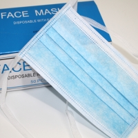 China Disposable String tie-on on the back 3ply protective surgical non woven face mask tie on 3-ply face mask wholesale