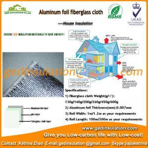 Fiberglass Cloth with Aluminum Foil for Heat Reflective Insulation Sheet