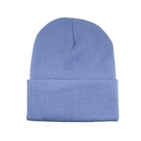 China Soft Warm Colorful 60cm Winter Knit Beanie With Woven Label wholesale